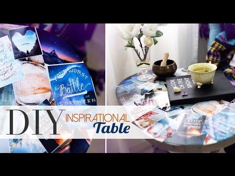 DIY Tumblr Pinterest Collage Table | Home Decor | ANN LE