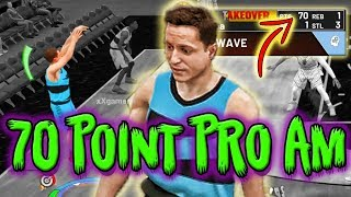 70 Points In My First Pro Am Game! Unstoppable Build | Nba 2k19