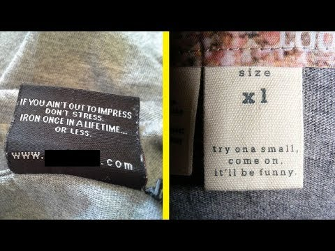 Hilarious Clothing Tags and Labels That Have Funny Messages