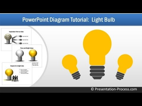 How to Create Bulb: PowerPoint Diagram Series