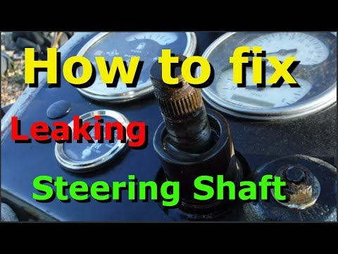 How to replace the power steering shaft seal on your Farmall International Tractor