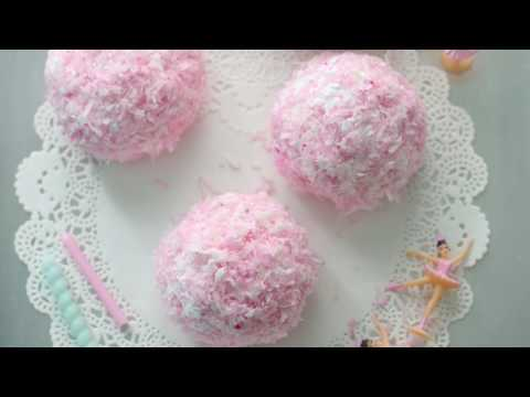 HOW TO MAKE; PINK VINTAGE SNOWBALLS