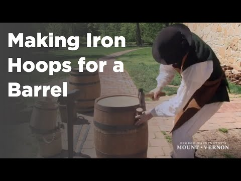 Mount Vernon: Making Iron Hoops for barrels