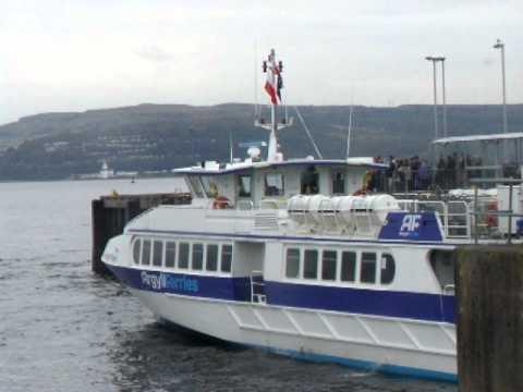 Argyll Flyer departs Dunoon.AVI