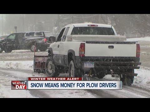 Snow means money for plow drivers