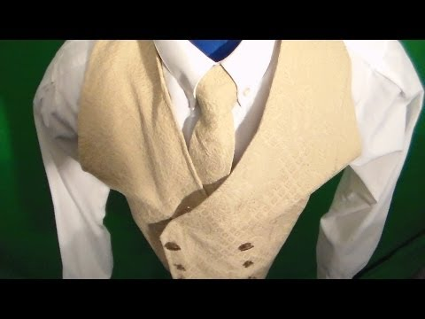 How to make a vest and neck tie from scratch part 1