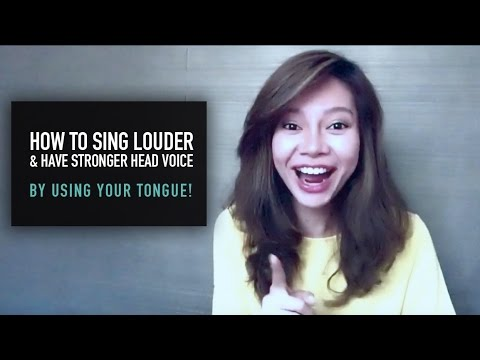 How To Sing Louder & Have Stronger Head Voice By Using Your Tongue!