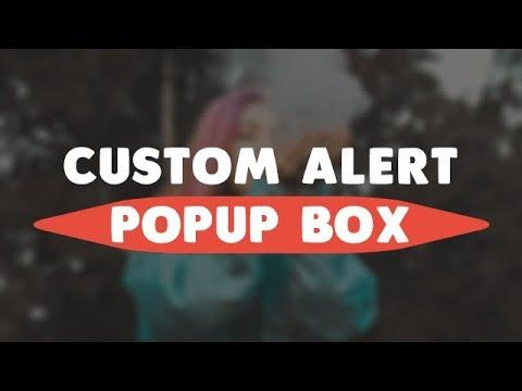 Custom Alert Popup Box Using HTML CSS JavaScript