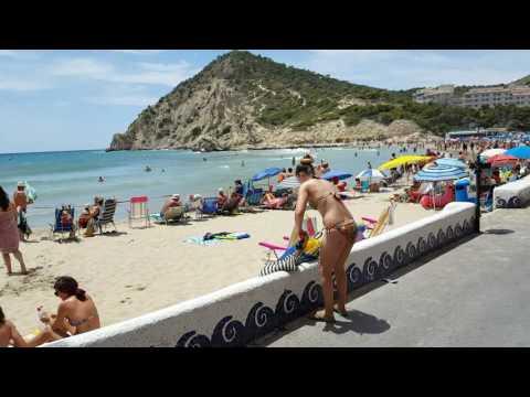 UNA VUELTA ENTERA DE LA PLAYA CALA FINESTRAT Alicante España