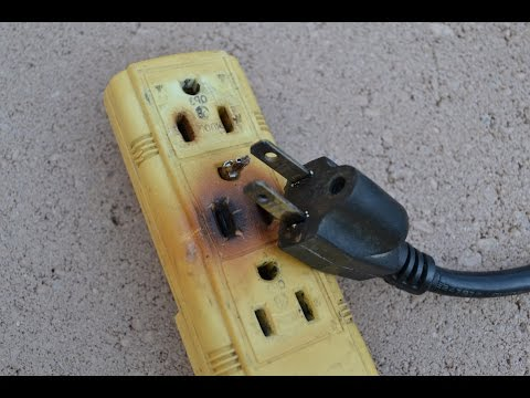 How to Fix a Burnt Broken Electrical Cord Wire Plug Replacement