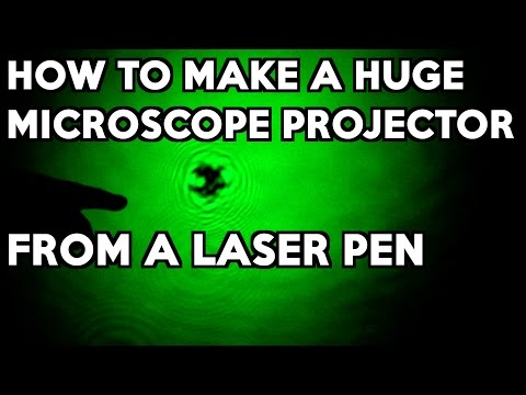 How to Make a Huge Microscope Projector from a Laser Pen