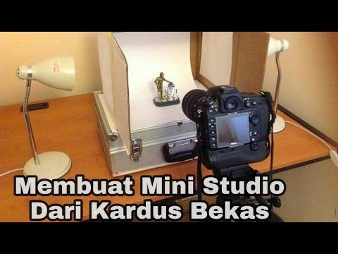 Membuat Mini Studio Dari Kardus Bekas (DIY Lightbox)