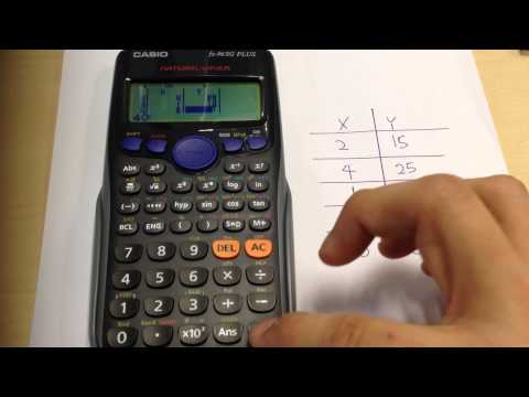 Finding Regression Equation using Casio fx-96SG.