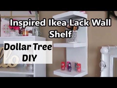 Dollar Tree DIY Ikea Inspired Wall Shelf