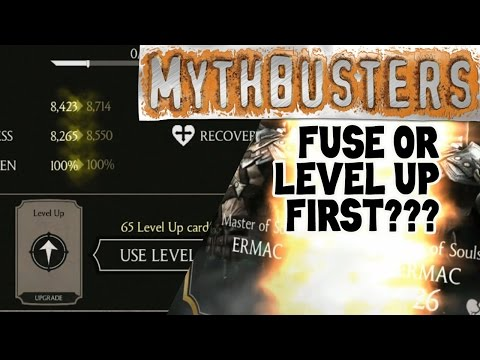 MKX Mobile. Fuse or level up characters first? Does it really matter?