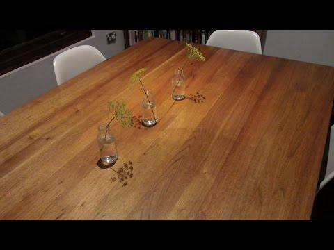 How to Prepare and Wax a Timber Dining Table using Bees Wax