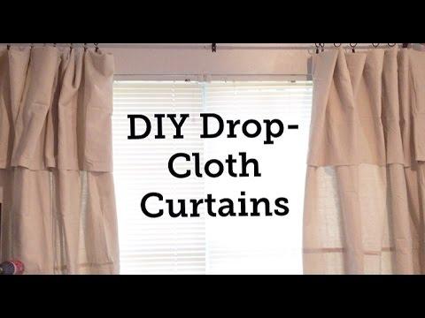 DIY Drop-Cloth Curtains