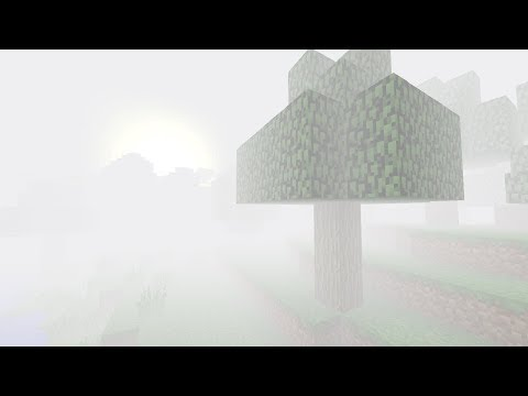 Extremely Foggy Weather in Minecraft!