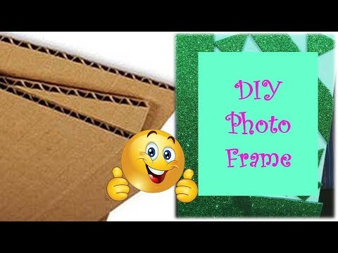 DIY: Make this from CARDBOARD sheets | How to make Beautiful PHOTO FRAME? | Learning Process