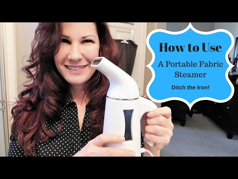 How to Remove Wrinkles Quickly Without an Iron - Sterline Garment Steamer Demo
