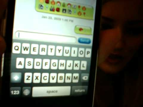 iPhone emoticons in text messages!!!! | iJustine