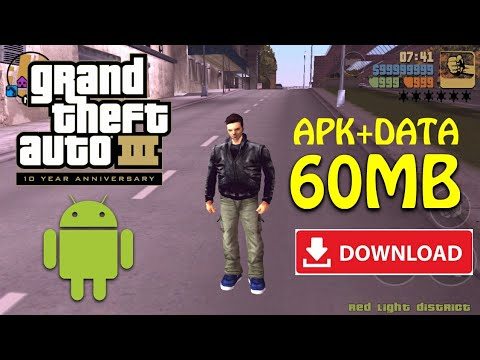 [60MB] APK+DATA Download GTA 3 On Android Highly Compressed | GTA 3 Android
