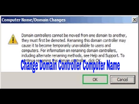 How to change Domain Controller computer name | rename Domain Controller  hostname