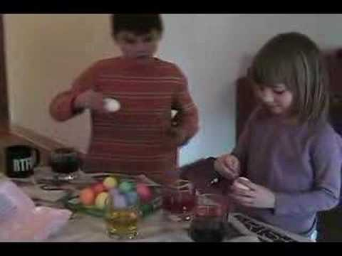Coloring Easter Eggs 2008
