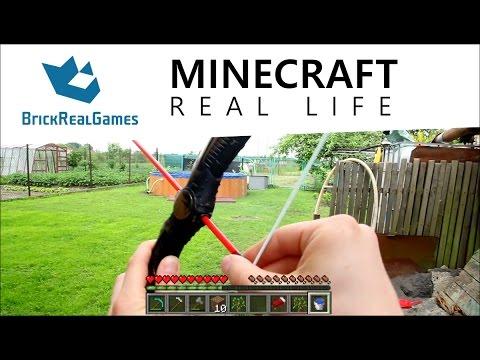 Minecraft Real Life - How to make Bow - BrickRealGames