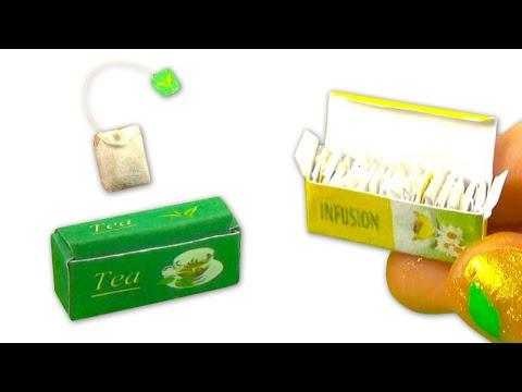 Miniature DIY tea bags and box (actually work!) - YolandaMeow♡