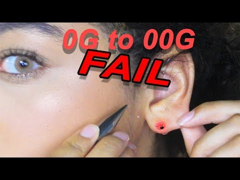 Stretching My Ear From 0G to 00G + Ear Blowout!!