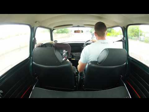 Classic Mini back seat ride