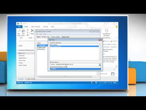 How to create Distribution List in Outlook 2013 in Windows® 7