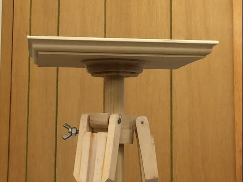 Building a sliding dovetail tripod for holding a small projector.