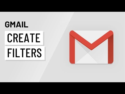 Gmail: Creating Filters with Gmail