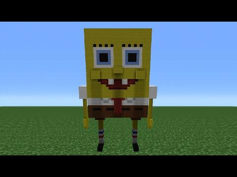 Minecraft Tutorial: How To Make Spongebob