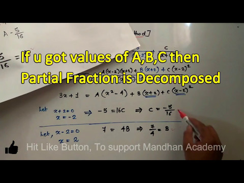 Partial Fractions Decomposition:- [ MOST IMP Que.] Partial Fraction Expansion :- M1-Diploma