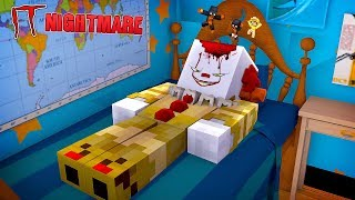 Minecraft JUMPING INTO PENNY WISE IT NIGHTMARE!! - Donut the Dog