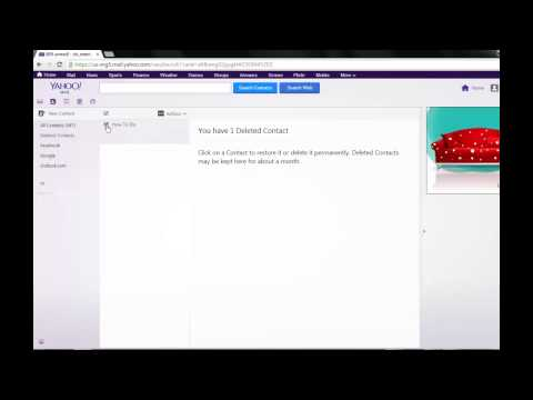 How to recover deleted ID or contacts from Yahoo Messenger and Mail