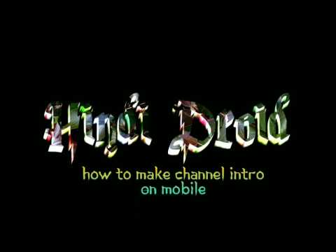 How To Make Channel Intro On Mobile | How To Make 3D Channel Intro