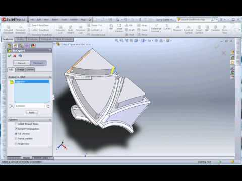 Designing a puzzle sticker template in SolidWorks
