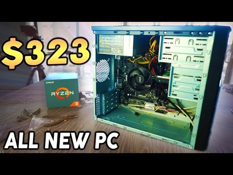 How to Build the CHEAPEST Fortnite Gaming PC - $323 2200G Build