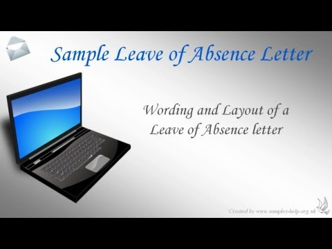 How to write a Leave of Absence Letter