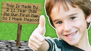 11 YEAR OLDS MADE THIS MINECRAFT MAP!