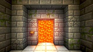 Automatic Lava Door Minecraft Tutorial