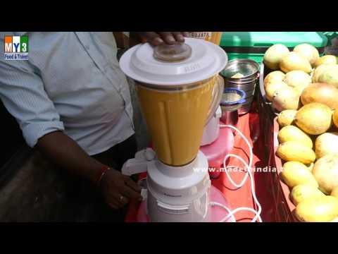 MAKING OF MANGO MILK SHAKE | HEALTHY STREET FOOD | DELHI STREET FOODS