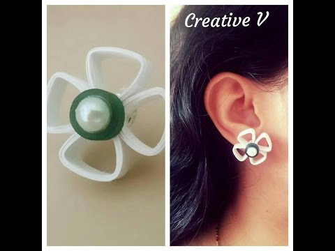 How to make Quilling Stud Earrings / Design 5 / Tutorial / #42