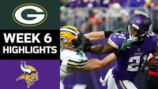 Packers Vs Vikings Nfl Week 6 Game Highlights