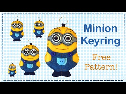 DIY Minion keyring in felt with Free pattern by Lisa Pay