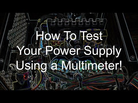 How to check your power supply using a multimeter